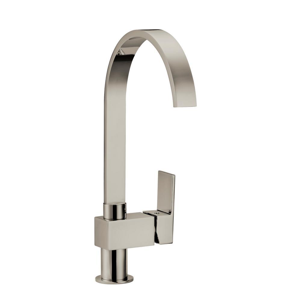 Karsen Single-Handle Standard Kitchen Faucet in Satin Nickel