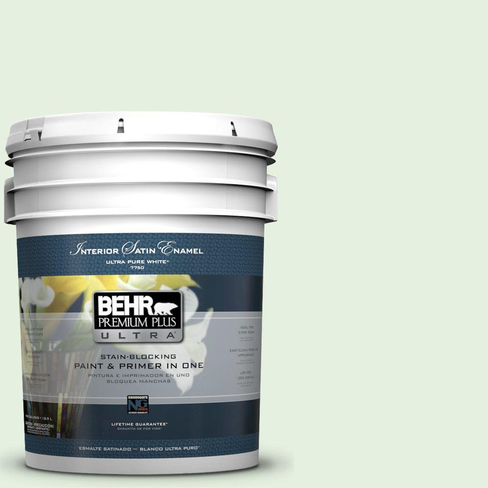 5-gal. #M390-1 Mayfair White Satin Enamel Interior Paint
