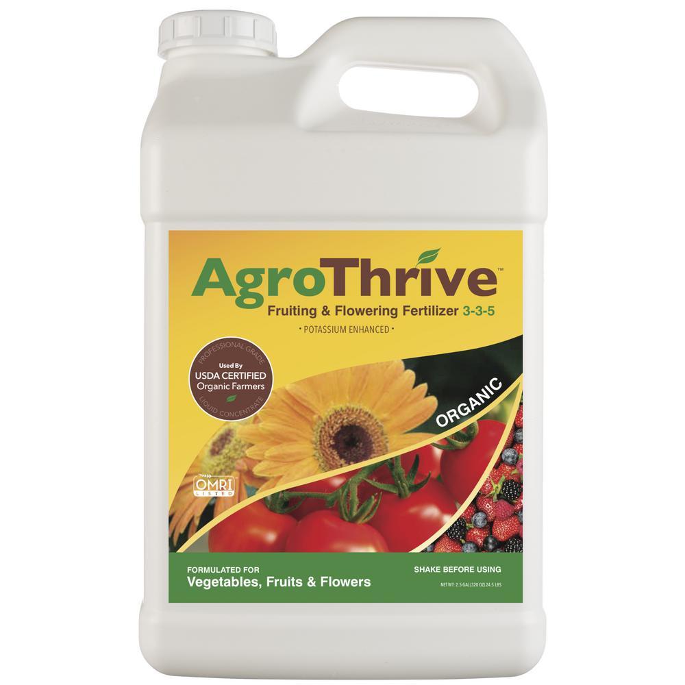 AgroThrive 2.5 Gal. Fruiting and Flowering Organic Liquid Fertilizer