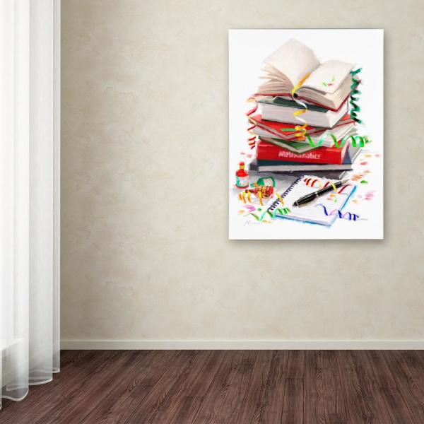 Trademark Fine Art 32 in. x 24 in. ''Exam Books'' by