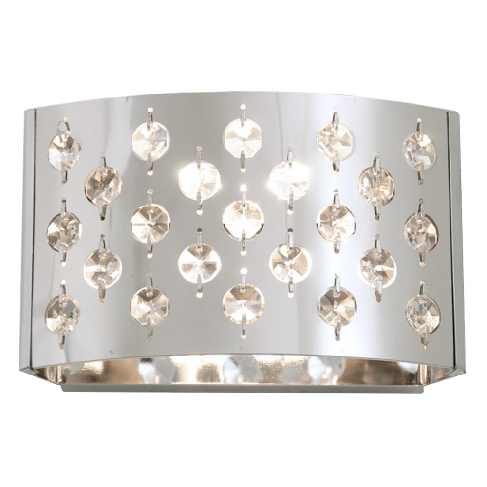 Adelene 1-Light Chrome Sconce