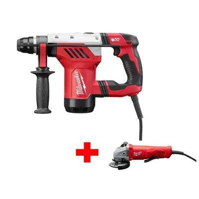 1-1/8 in. SDS-Plus Rotary Hammer with Free 11 AMP 4-1/2 in. Angle Grinder