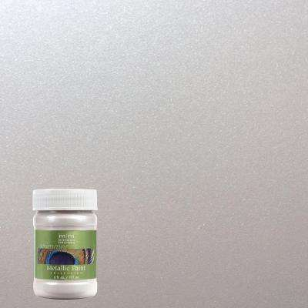 6 oz. Oyster Water-Based Satin Metallic Interior/Exterior Paint