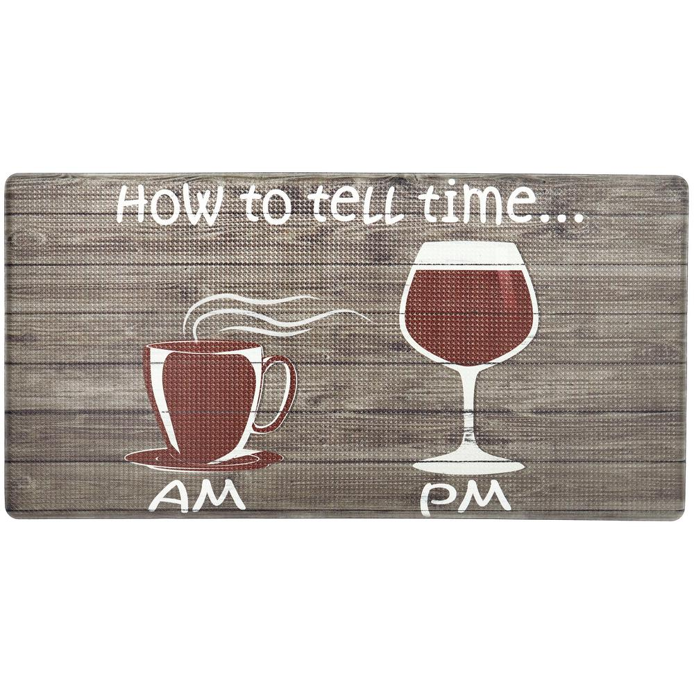 Nicole Miller Cook N Comfort Brown How To Tell Time 20 In X 39