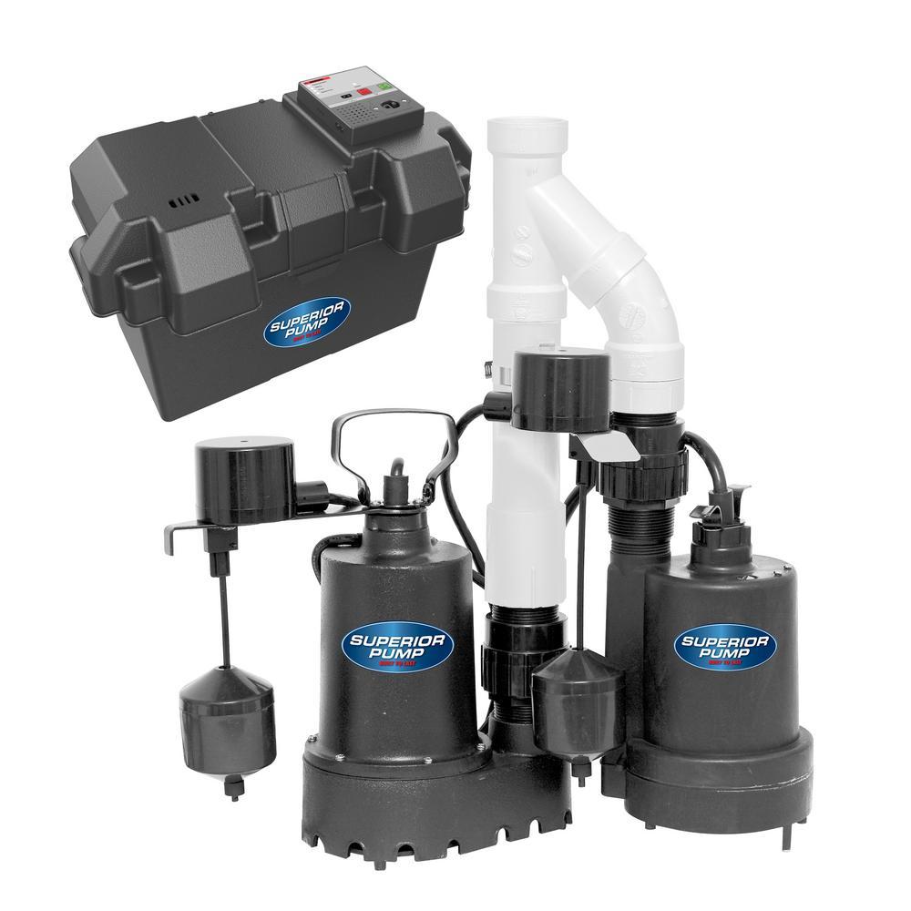 Superior Pump Pre-Assembled Emergency Backup Sump Pump System