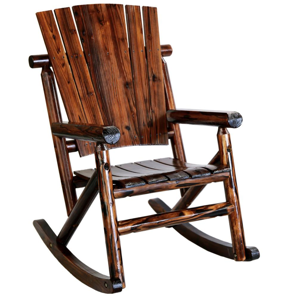 Awe Inspiring Leigh Country Char Log Wood Outdoor Rocking Chair Frankydiablos Diy Chair Ideas Frankydiabloscom