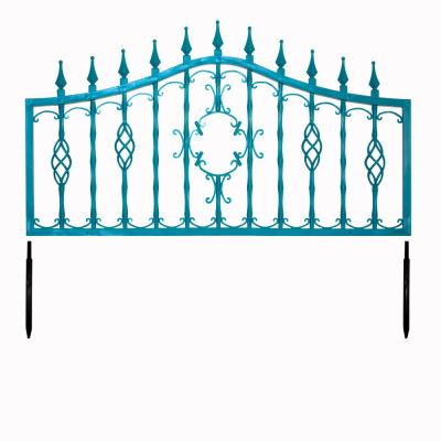 Orleans Collection 24 in. Fencing Cornflower Decorative Lawn Fencing or Wall Art in Blue (5-Pack)
