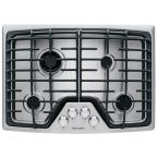 30 in. Deep Recessed Gas Cooktop in Stainless Steel with 4 Burners including Min-2-Max Burner