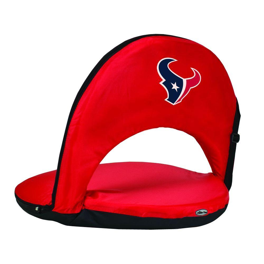 Oniva Houston Texans Red Patio Sports Chair with Digital Logo