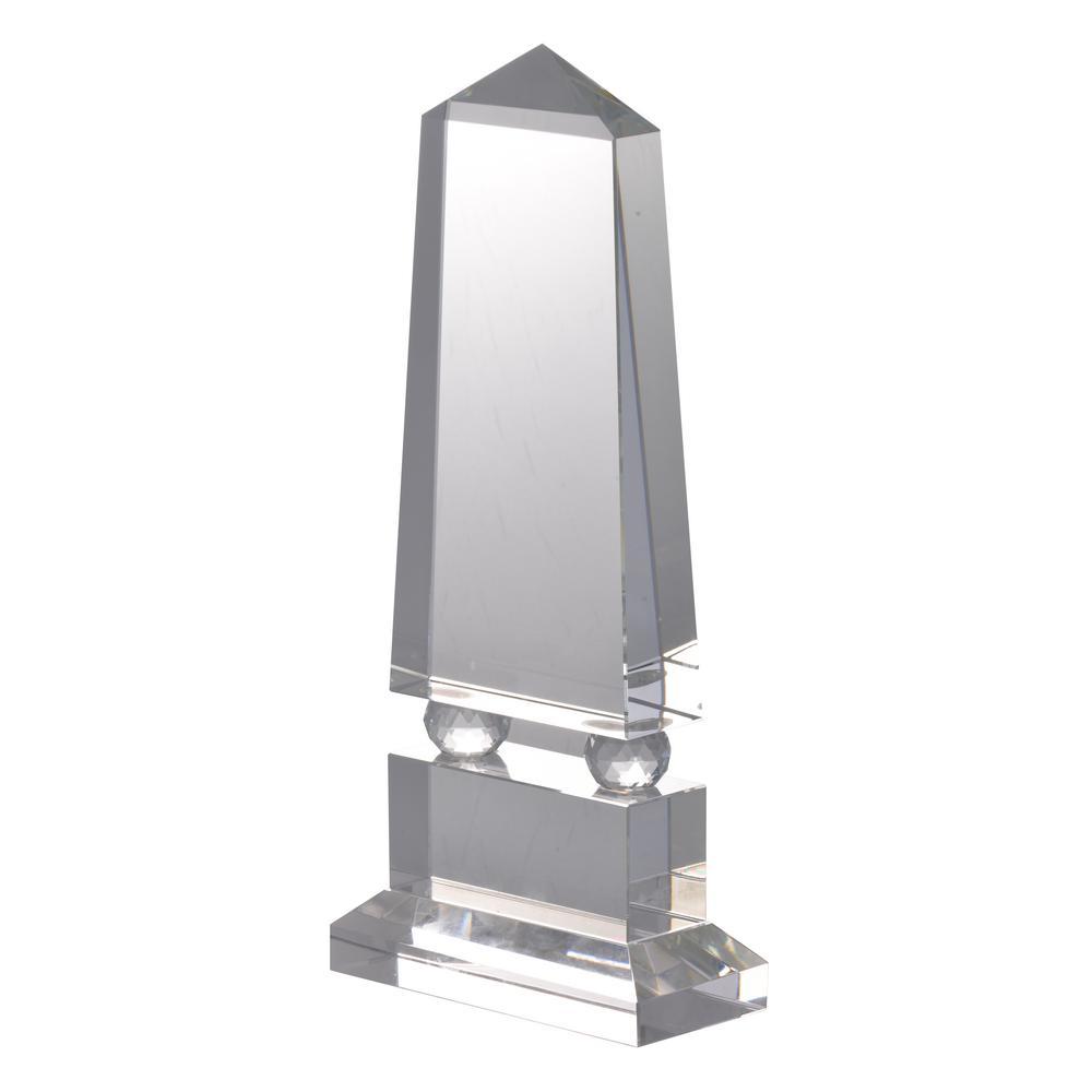 13 in. Clear Obelisk