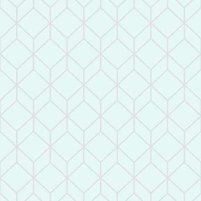 Myrtle Geo Aqua And Silver Removable Wallpaper Sample
