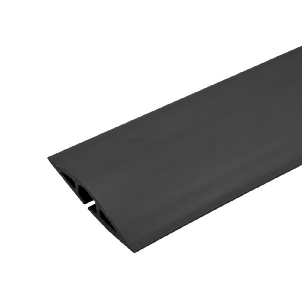 Legrand Corduct 50 ft. 1-Channel Over-Floor Cord Protector - Black