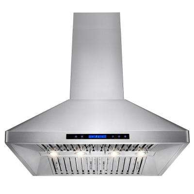 36 in. Kitchen Wall Mount Range Hood in Stainless Steel with Remote and Touch Control