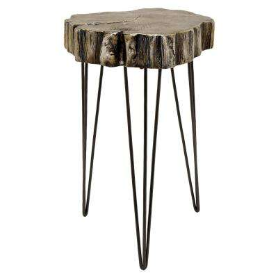 18.25 in. x 18 in. Silver Accent Table