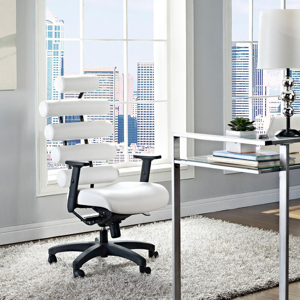 Modway Pillow Office Chair in White-EEI-274-WHI - The Home Depot