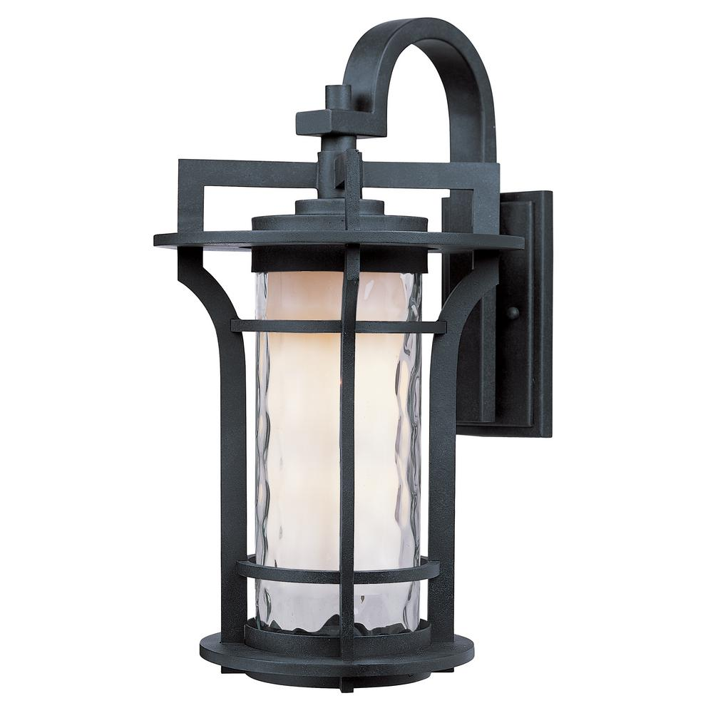 maxim lighting oakville ee 1-light black oxide outdoor wall sconce