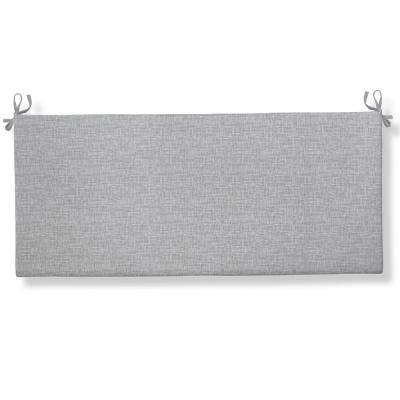 Portico Rectangular Bench/Porch Swing Cushion in Grey