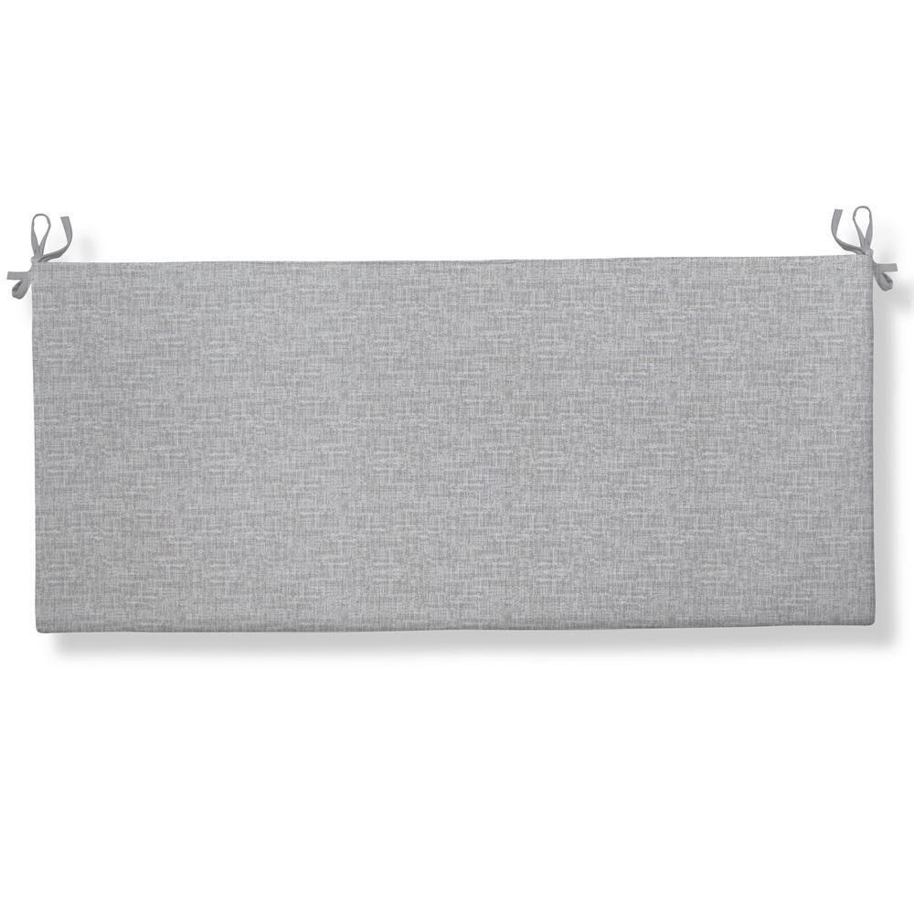 Portico Rectangular Bench/Porch Swing Cushion in Grey
