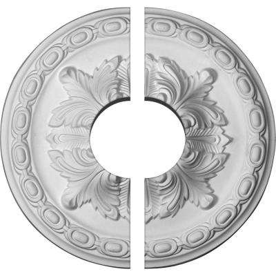 11-3/8 in. O.D. x 3-1/2 in. I.D. x 2 in. P Acanthus Ceiling Medallion (2-Piece)