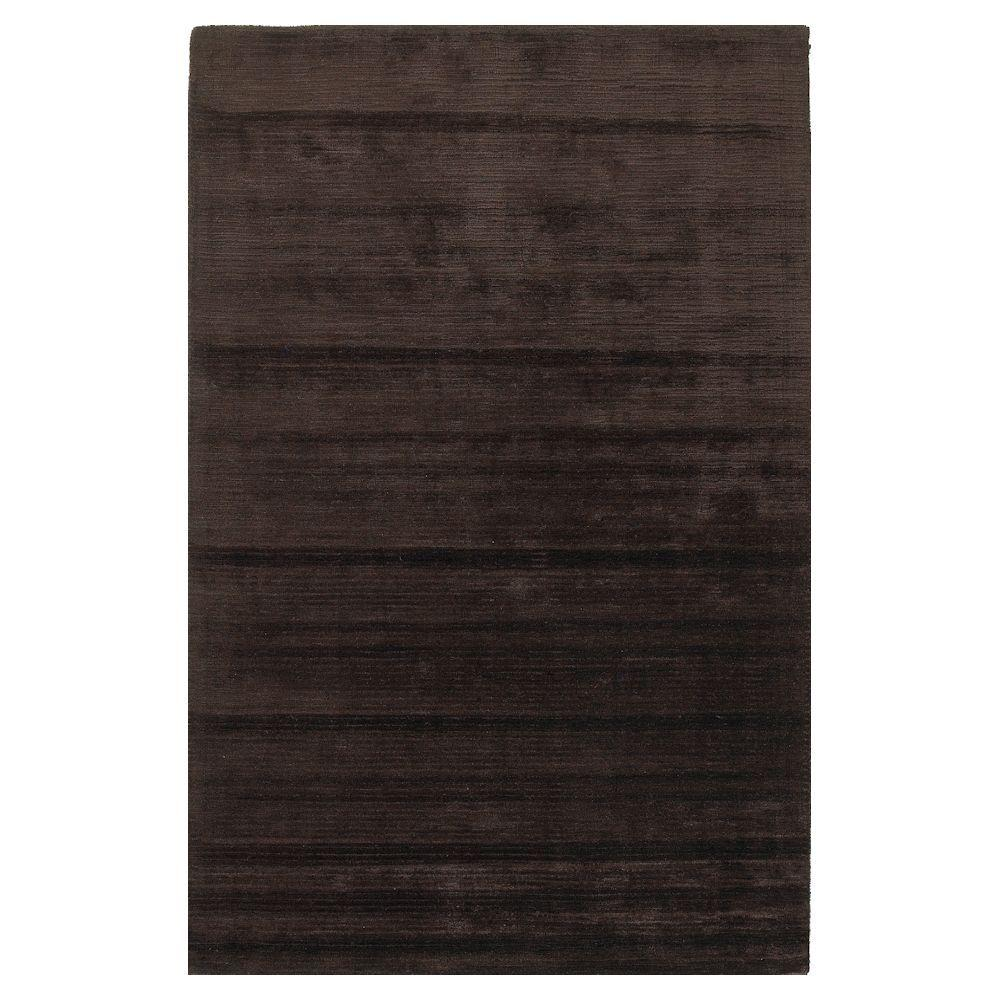 Kas Rugs Solid Texture Mocha 2 ft. 6 in. x 4 ft. 2 in. Area Rug