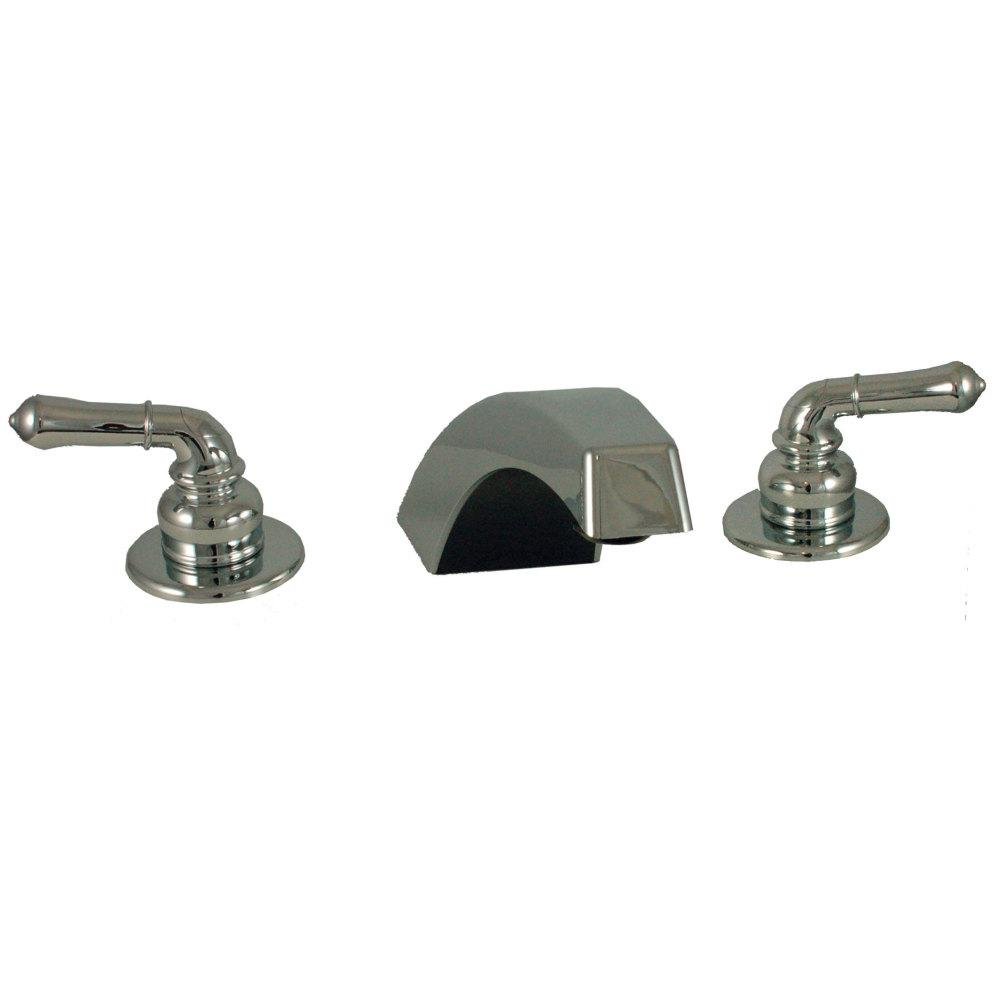 Empire Brass 18 in. Chrome Center Adjustable Concealed Garden Tub Filler with Hi-Arc Spout