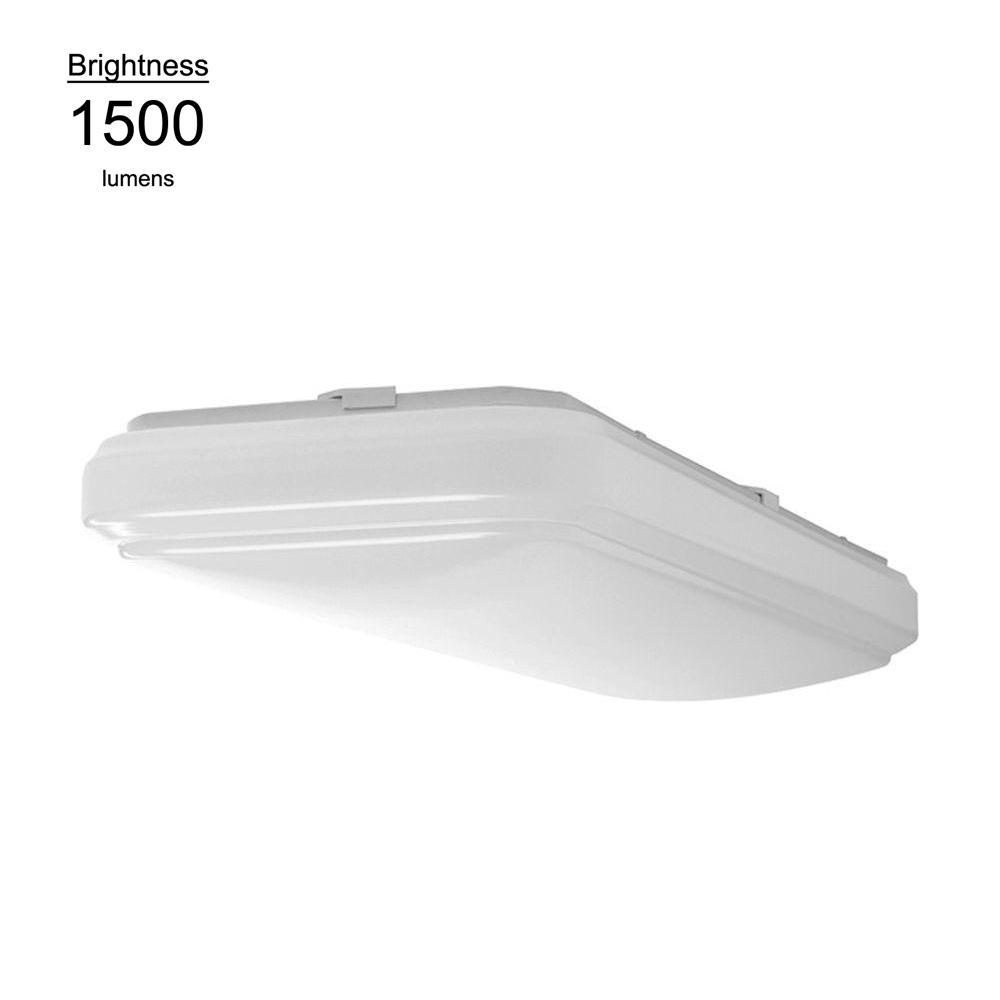 Hampton Bay 2 ft. x 1 ft. Bright White Rectangular LED Flushmount Ceiling Light Fixture Dimmable