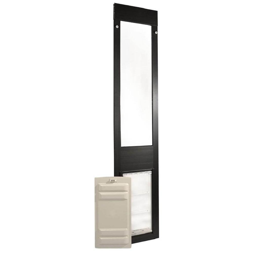 Endura Flap 10 in. x 19 in. Thermo Panel 3e Fits Patio Door 74.75 in. x 77.75 in. Tall in Bronze Frame