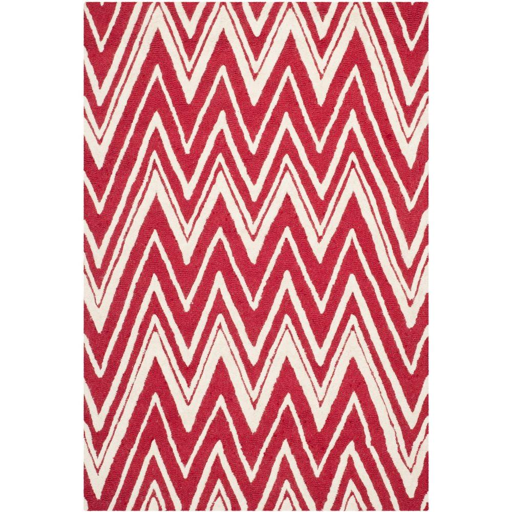 Cambridge Red/Ivory 4 ft. x 6 ft. Area Rug