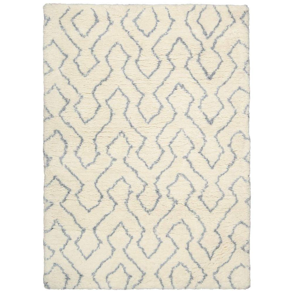 Galway Ivory/Blue 5 ft. x 7 ft. Area Rug
