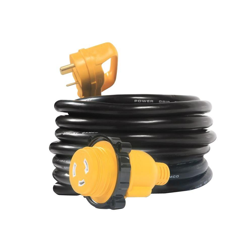 Camco 25 Ft 30m 30f Extension Cord Locking Adapter 55501 The Home Wiring Internet