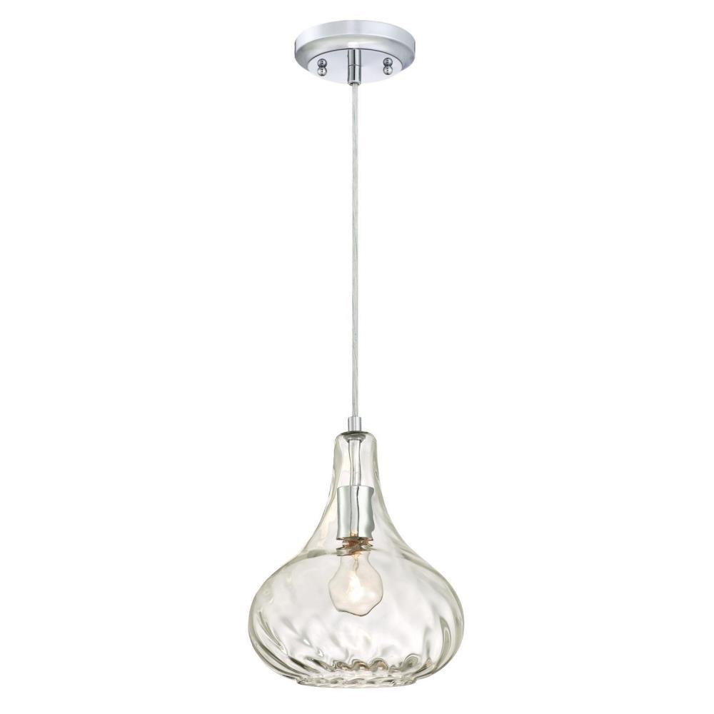 6274cfff61e Westinghouse 1-Light Chrome Finish Pendant-6328700 - The Home Depot