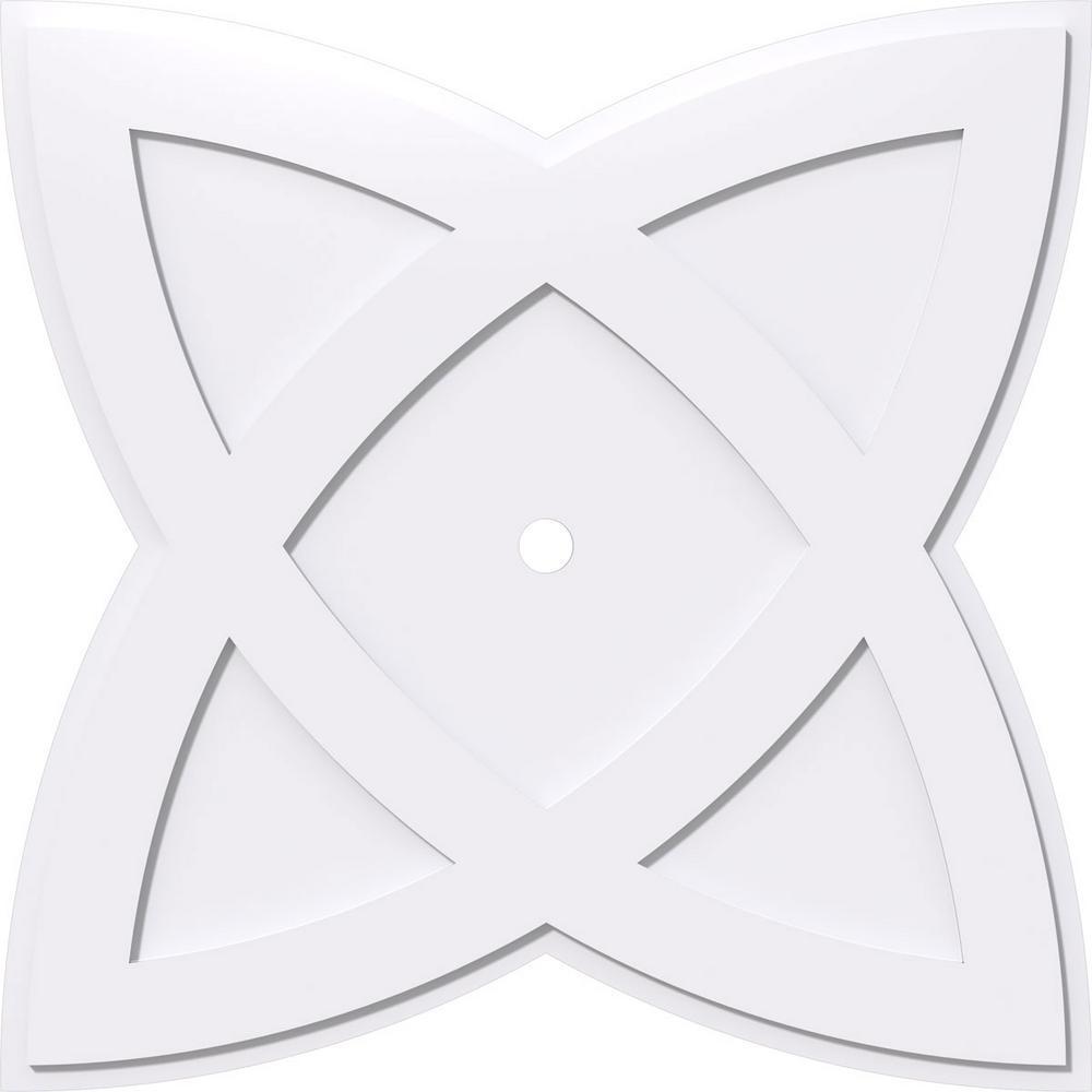 1 in. P X 15 in. C X 40 in. OD X 2 in. ID Cosmo Architectural Grade PVC Contemporary Ceiling Medallion