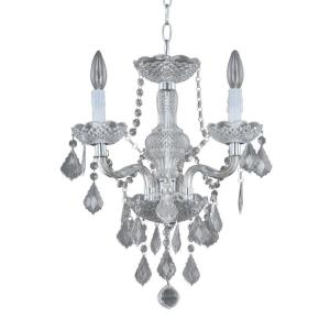 Hampton Bay Maria Theresa 3-Light Chrome and Clear Acrylic Mini Chandelier by Hampton Bay