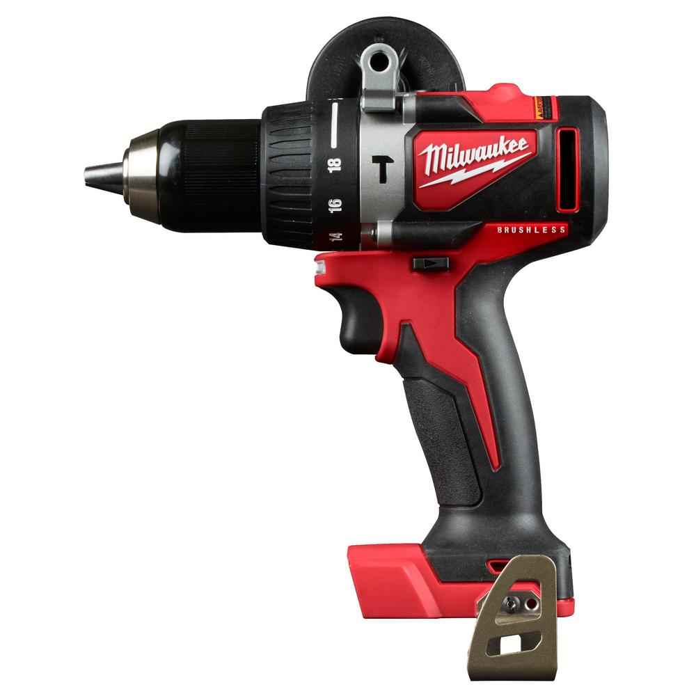 Milwaukee M18 18-Volt Lithium-Ion Brushless Cordless 1/2 in. Compact Hammer Drill Tool Only