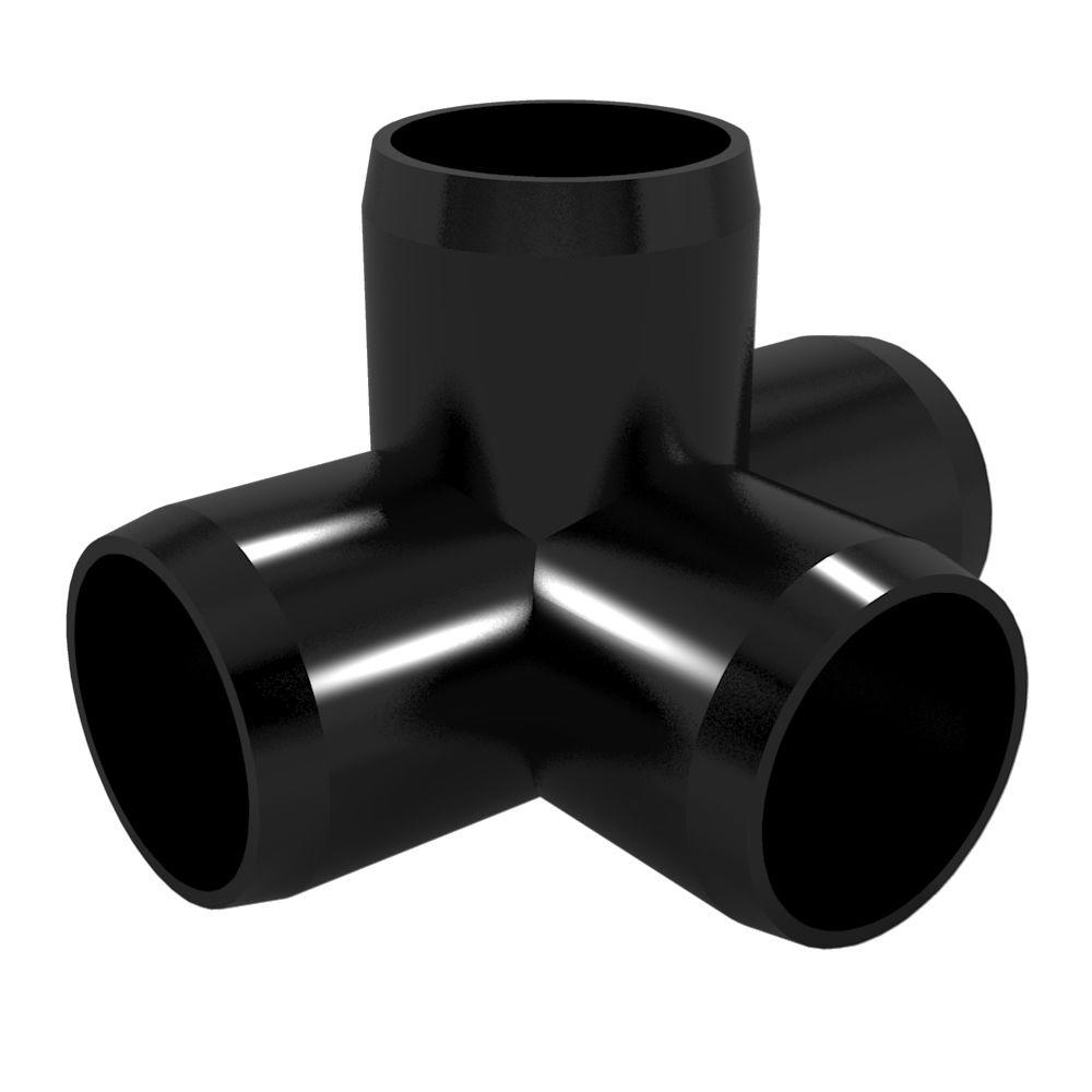 Formufit in furniture grade pvc way tee black