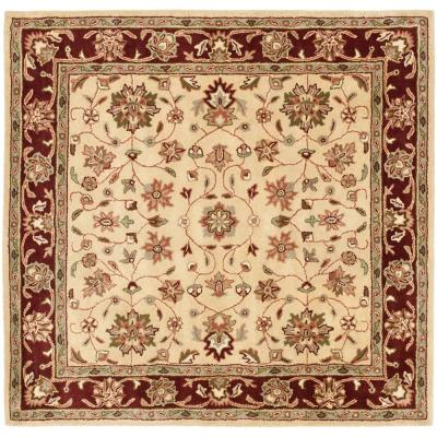 Heritage Ivory/Red 6 ft. x 6 ft. Square Area Rug