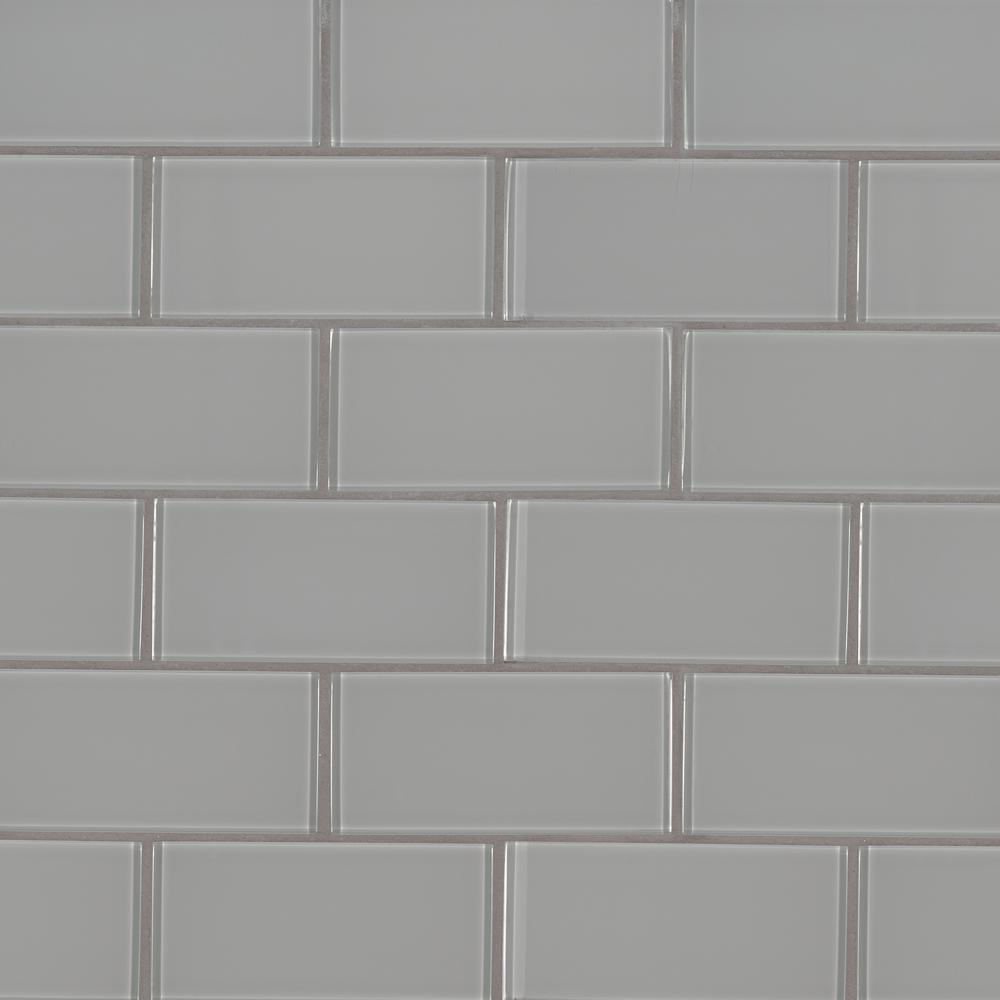 - MSI Oyster Gray 3 In. X 6 In. Glossy Glass Wall Tile (1 Sq. Ft