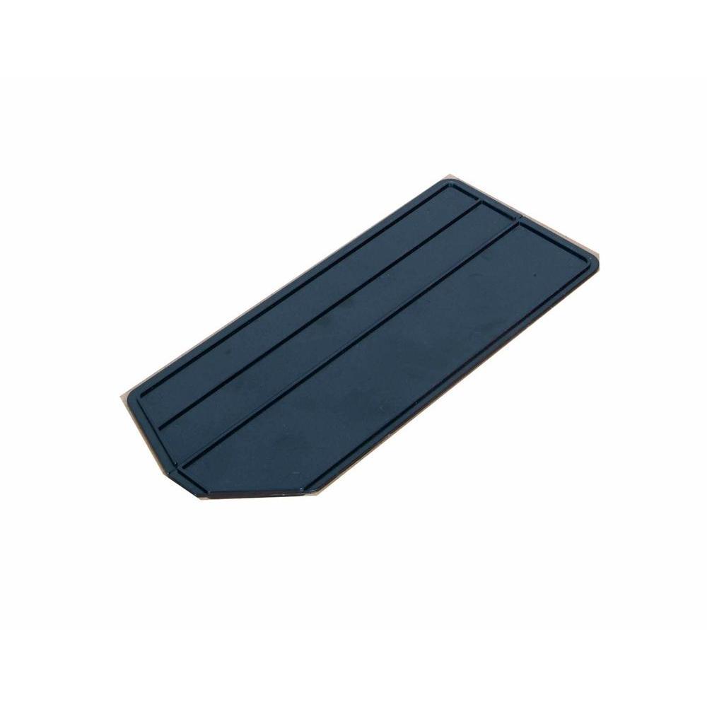 LocBin 13-7/8 in. L x 6-1/2 in. W x 1/4 in. H ABS Plastic Black Bin Dividers for 3-240 Bins (6-Pack)