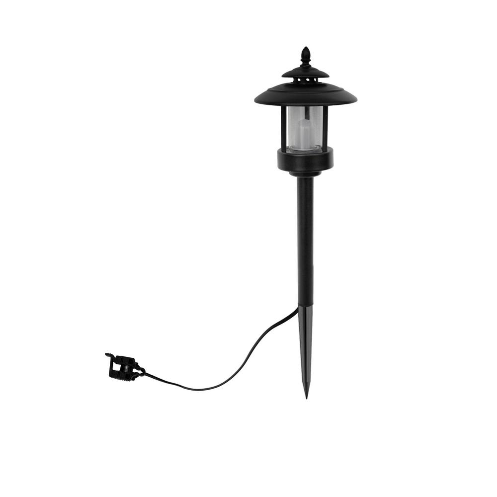 Low voltage 1 2 watt black outdoor integrated led for Low voltage led walkway lights