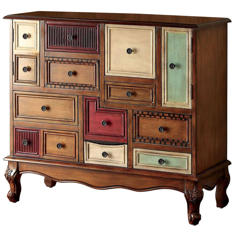 Venetian Worldwide Deseree Antique Walnut Chest - Venetian Worldwide Deseree Antique Walnut Chest-VENE-CM-AC149
