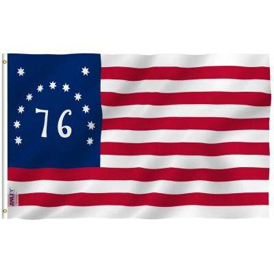 Fly Breeze 3 ft. x 5 ft. Polyester Bennington 76 Flag 2-Sided Banner with Brass Grommets and Canvas Header