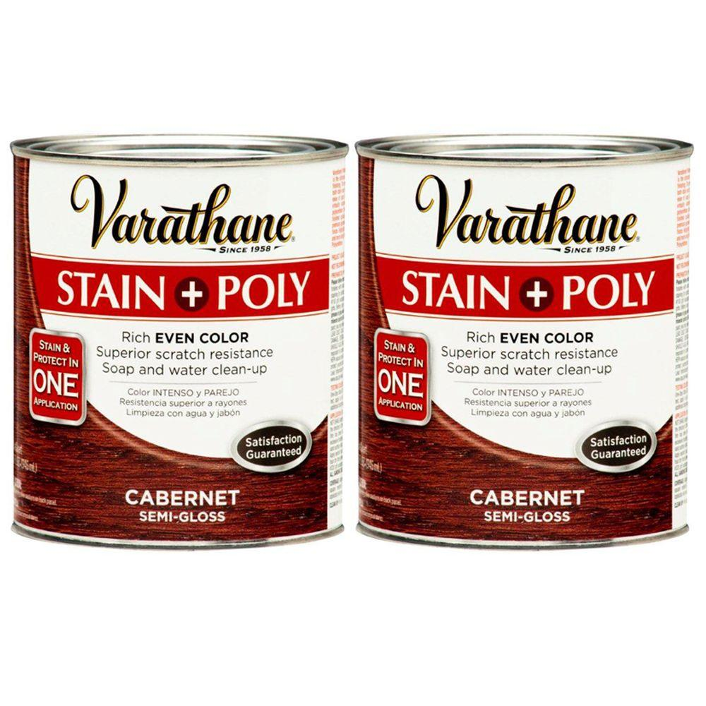 Varathane 1 Qt. Cabernet Wood Stain and Polyurethane (2-Pack)-DISCONTINUED