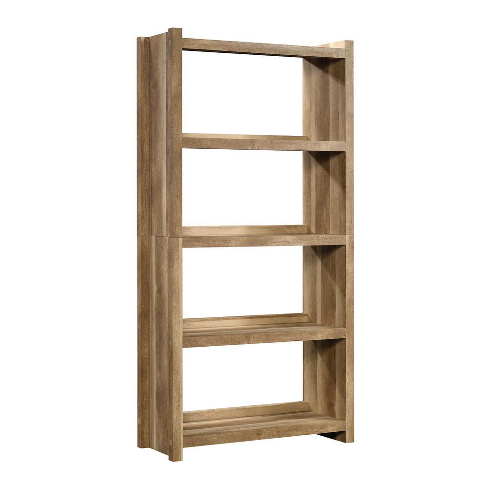 HomeVisions Lintel Oak 4-Shelf Open Bookcase