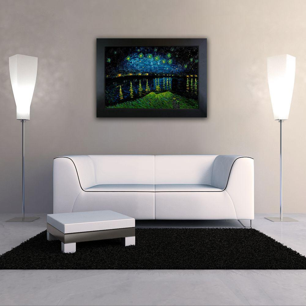 null 24 in. x 36 in. Starry Night over the Rhone Hand Painted Classic Artwork