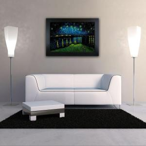 24 inch x 36 inch Starry Night over the Rhone Hand Painted Classic Artwork by
