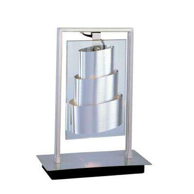 13 in. Chrome Table Lamp with Clear Glass