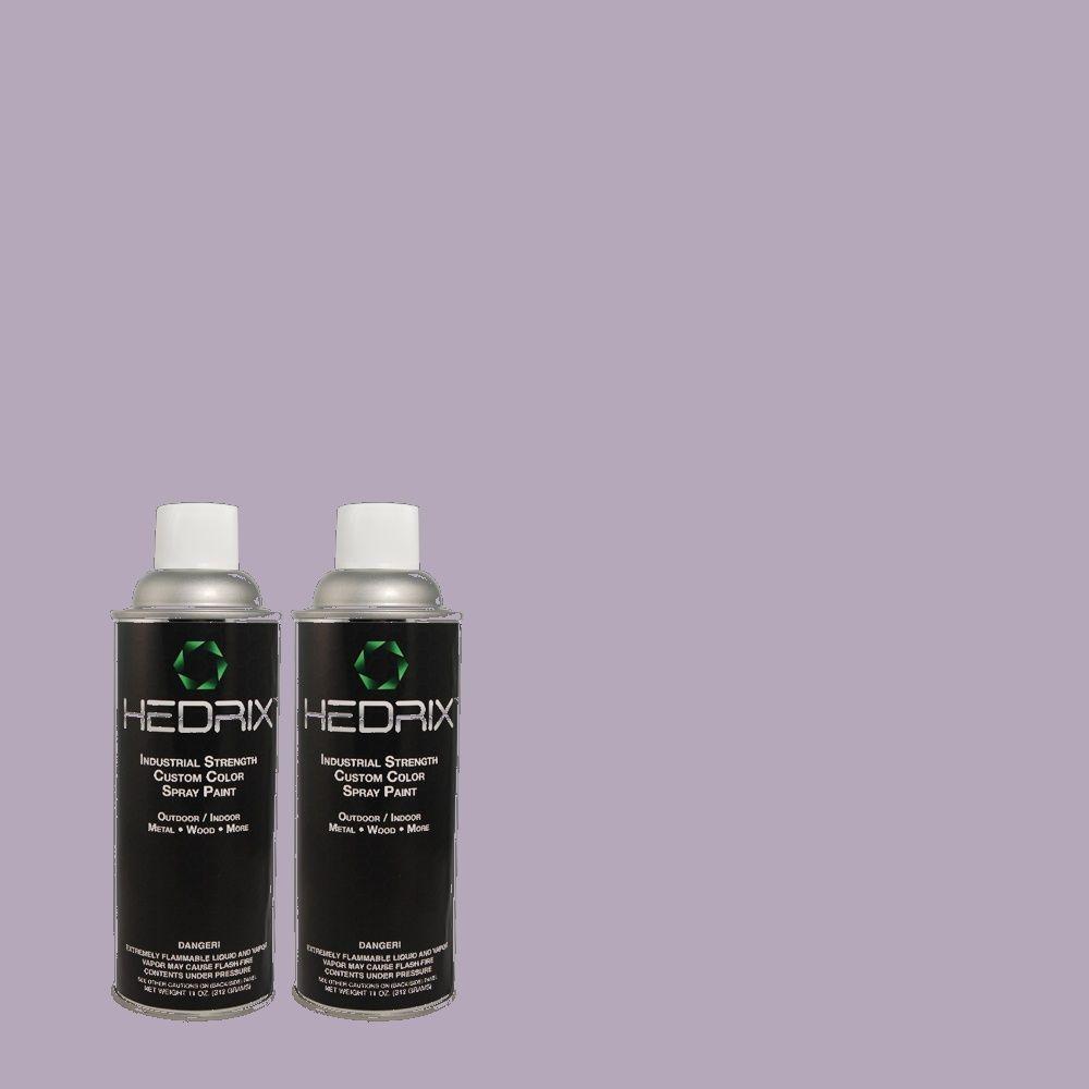 Hedrix 11 oz. Match of 640D-4 Canyon Mist Semi-Gloss Custom Spray Paint (2-Pack)