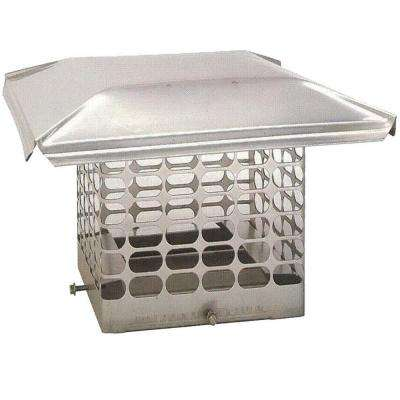 9 in. x 17 in. Adjustable Stainless Steel Chimney Cap