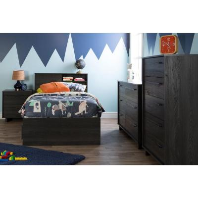 Fynn Gray Oak Twin Kids Headboard