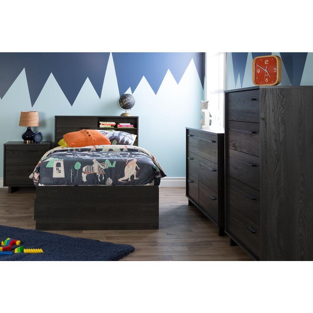 Fynn Gray Oak Twin Kids Headboard